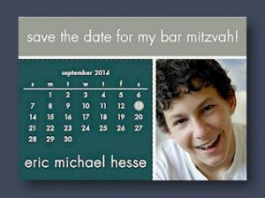 Save the Date Bar Mitzvah Card
