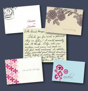 Thank you note samples
